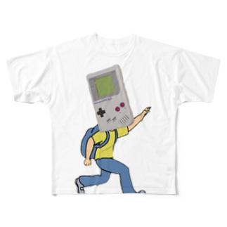 game boy Full graphic T-shirts