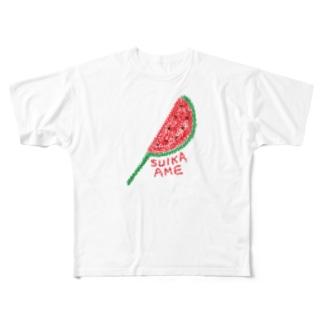 すいか飴☆ Full graphic T-shirts