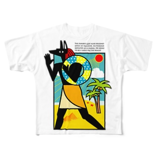 夏のアヌビス神 in the beach All-Over Print T-Shirt