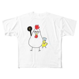 無添加料理人しのちゃんの無添加料理人しのちゃん Full graphic T-shirts