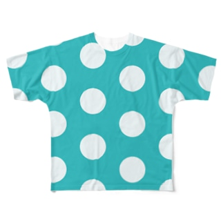 ブルードット Full graphic T-shirts