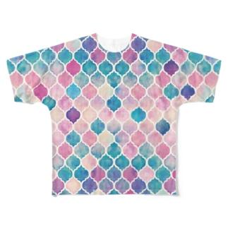 ttyarswの幾何学模様1 Full graphic T-shirts