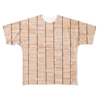 大田デザイン刑務所のすだれ Full graphic T-shirts