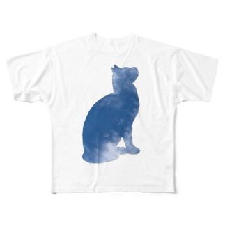 空猫シリーズ Full graphic T-shirts