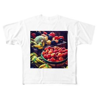 y's papa フルーツバスケット Full graphic T-shirts