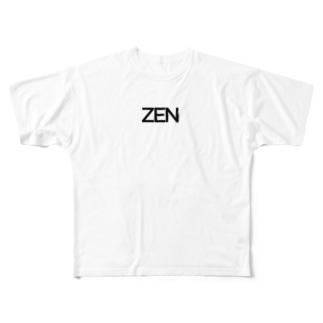 ZENロゴTシャツ  Full graphic T-shirts