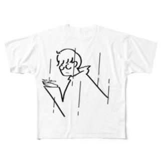 雨降りBOY Full graphic T-shirts