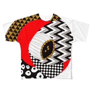 柄椿2 Full graphic T-shirts