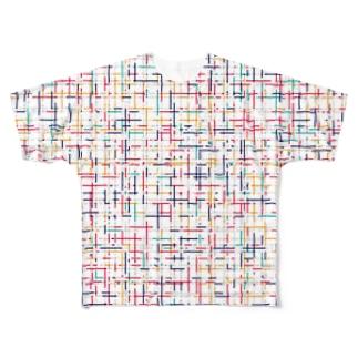 ttyarswの幾何学模様2 Full graphic T-shirts
