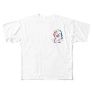 coffee rainbow Full graphic T-shirts