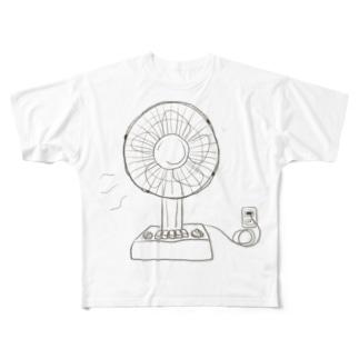 自家発電扇風機 Full graphic T-shirts
