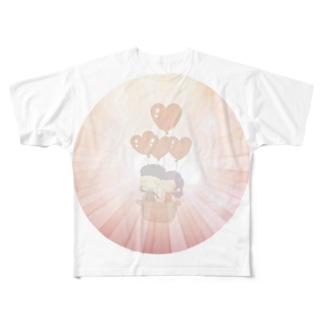かけおち Full graphic T-shirts