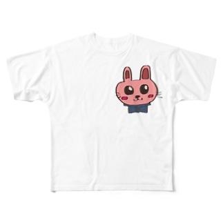 うささん Full graphic T-shirts