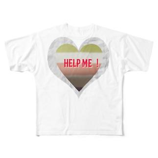 助けて、買って! Full graphic T-shirts