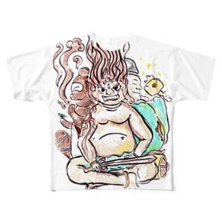 三面大黒天 Full graphic T-shirts