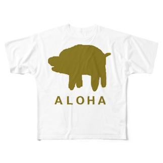 アメリカンベースのアロハ Full graphic T-shirts