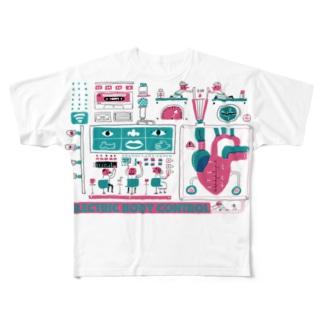 カラダノシクミ Full graphic T-shirts