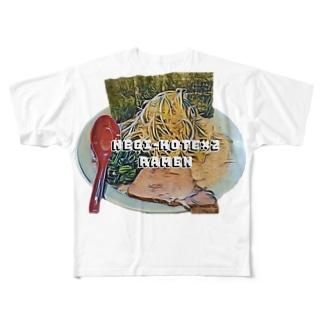 ネギラーメンコテコテ(背脂増し) Full graphic T-shirts