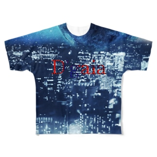 aimuristのD'gaia city Full graphic T-shirts