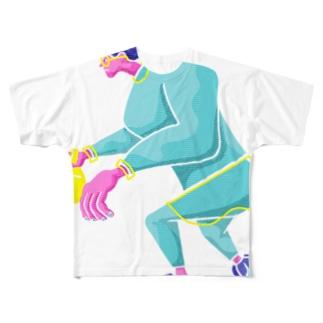 meeg -さかもと めーぐ-のPingpong Full graphic T-shirts