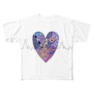 心拍数 Full graphic T-shirts