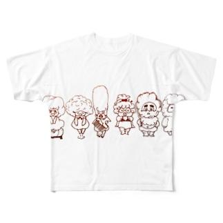 アフロ屋さん All-Over Print T-Shirt