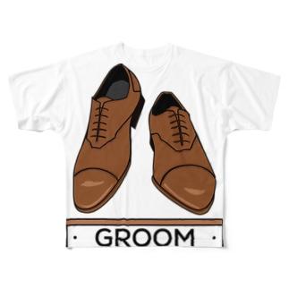 ペア(GROOM)シューズ_ブラウン Full Graphic T-Shirt