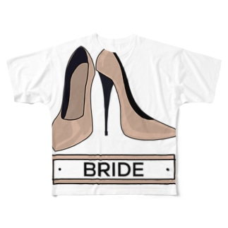 ペア(BRIDE)ヒール_ベージュ Full graphic T-shirts