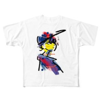 味気ない Full graphic T-shirts