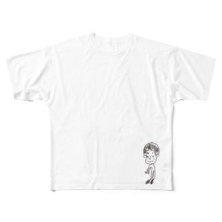 yuppyhappyの僕だよ〜 Full graphic T-shirts