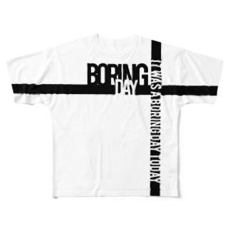 デザイン②Boring Day Full graphic T-shirts