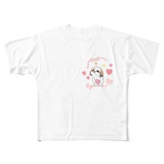 シーズーちゃん Full graphic T-shirts