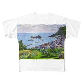 能生海岸 Full graphic T-shirts