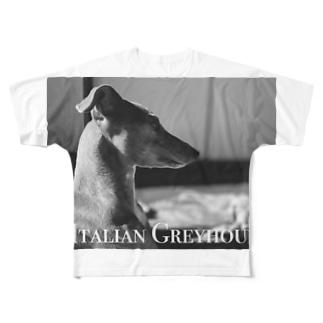 イタグレ 横顔 Full Graphic T-Shirt
