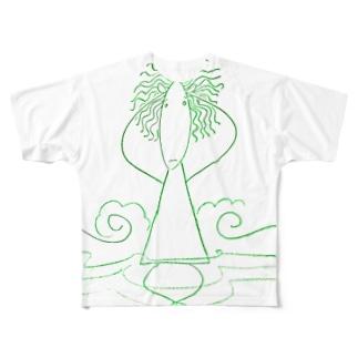 頭チリチリ考えられない君(2) Full graphic T-shirts