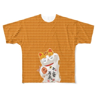 Lucky Cat Full graphic T-shirts