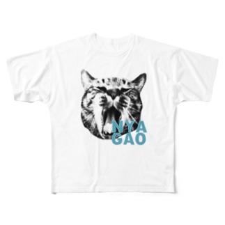 にゃおがお~ Full graphic T-shirts