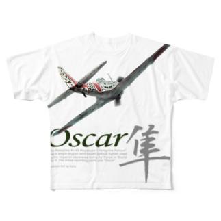 中島 キ43 一式戦闘機 「隼」 Full graphic T-shirts