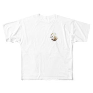 gold full moon☽ Full graphic T-shirts