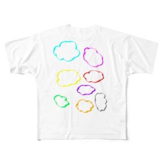 カラフル雲 Full graphic T-shirts