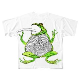 カエルの迷路 Full graphic T-shirts