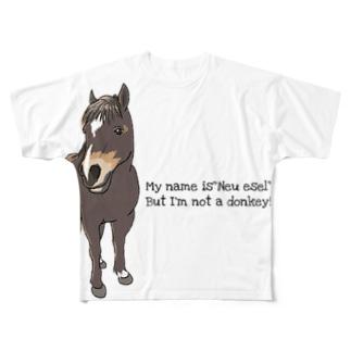 (公財)ハーモニィセンター チャリティグッズ ノイエーゼル Full graphic T-shirts