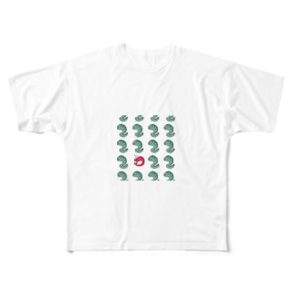 ウツボ ときどき エビ Full graphic T-shirts