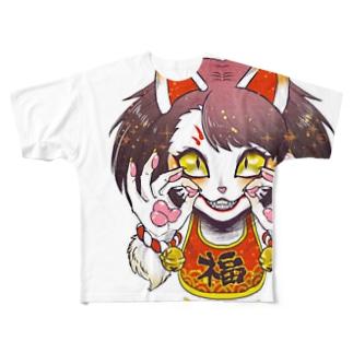 妖気な福ちゃん Full graphic T-shirts