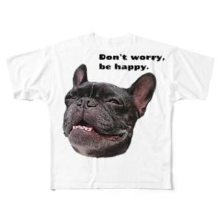 根拠なくポジティブな犬 Full Graphic T-Shirt