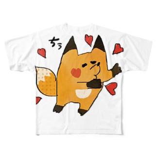 ちゅうふぉっくん Full graphic T-shirts