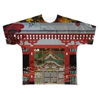 稲荷鳥居 Full graphic T-shirts