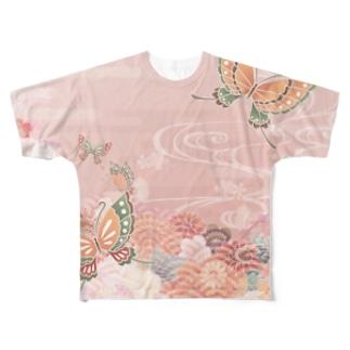 蝶前蝶後 Full graphic T-shirts