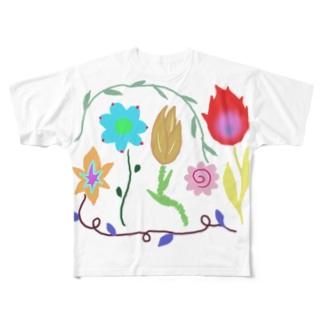おはなたち Full graphic T-shirts