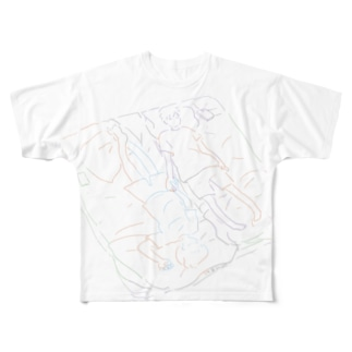 架空(ロゴなし) Full graphic T-shirts